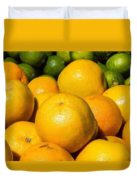 Healthy Oranges Duvet Cover