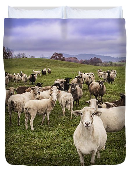 Duvet Cover featuring the photograph Hear My Voise by Jaki Miller