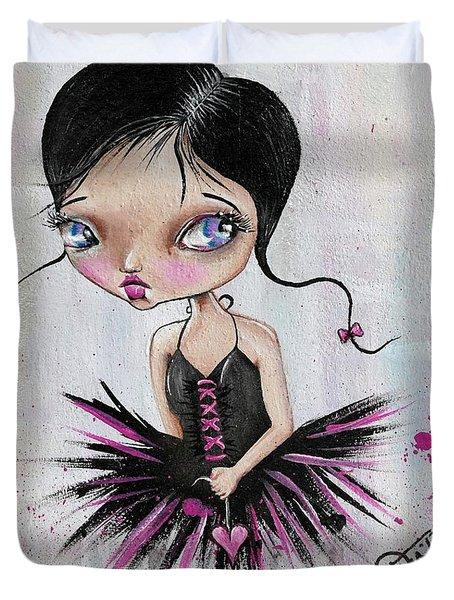 Heart Break Ballet Duvet Cover
