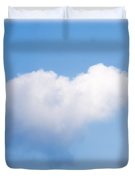 Heart Cloud Duvet Cover by Shirley Tinkham