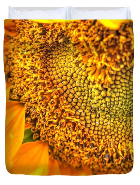 Heart-felt Sunflower Duvet Cover