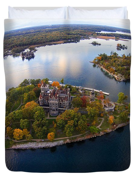 Heart Island George Boldt Castle Duvet Cover by Tony Cooper