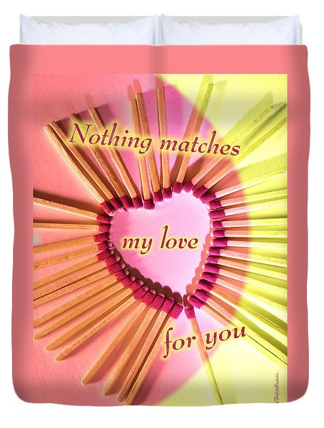 Heart Matches Duvet Cover