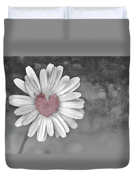 Heart Of A Daisy Duvet Cover