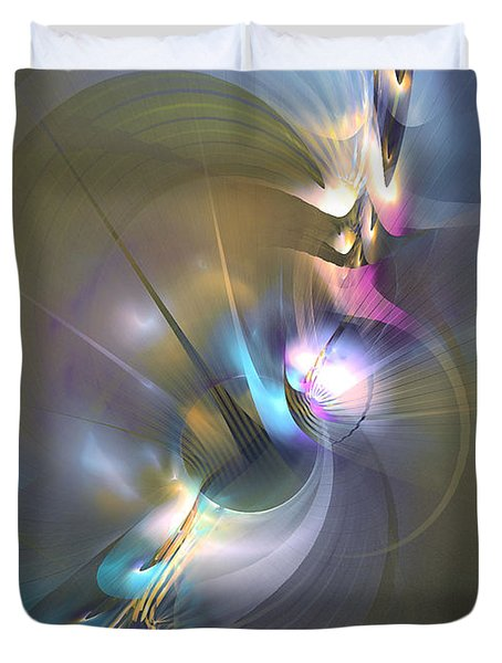 Heart Of Dragon - Abstract Art Duvet Cover