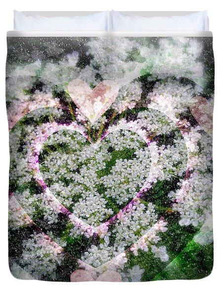 Heart Of Hearts Duvet Cover by Kay Novy