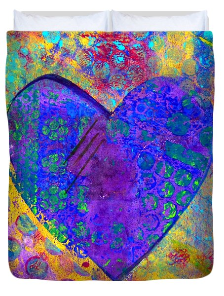 Heart Of Hearts Series - Compassion Duvet Cover by Moon Stumpp