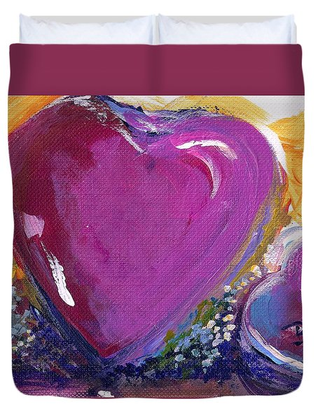Heart Of Love Duvet Cover by Bernadette Krupa