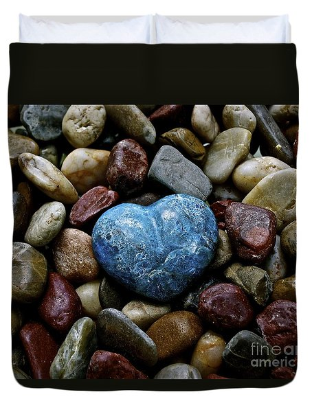 Heart Of Stone Duvet Cover by Lisa  Telquist