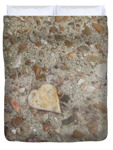 Duvet Cover featuring the photograph Heart Of Stone by Fortunate Findings Shirley Dickerson