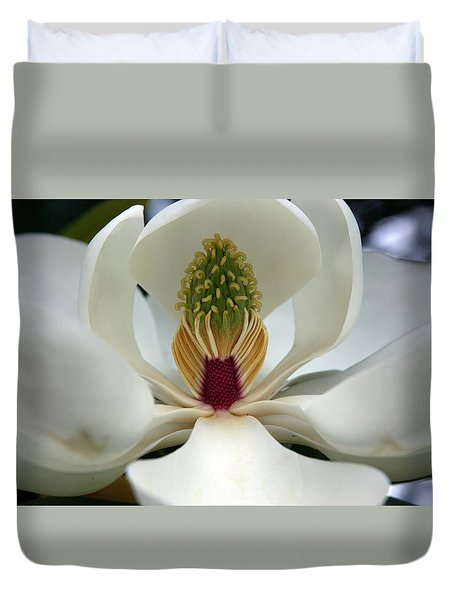 Heart Of The Magnolia Duvet Cover by Andy Lawless