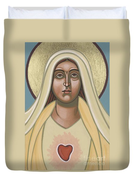 Duvet Cover featuring the painting Heart Of The Mother 252 by William Hart McNichols