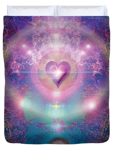Heart Of The Universe Duvet Cover by Alixandra Mullins