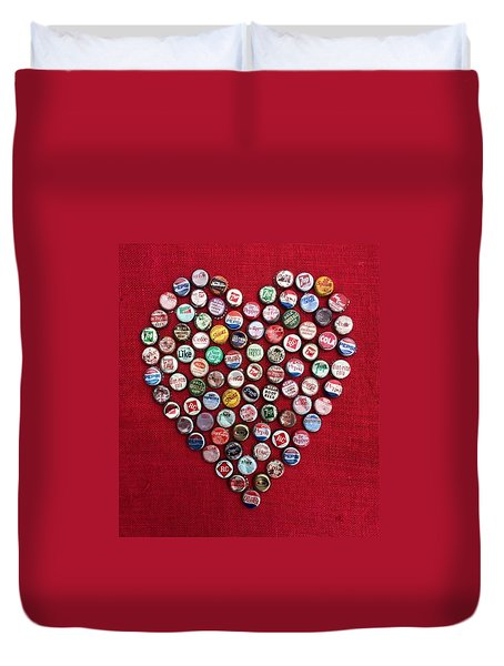 Heart Pop Duvet Cover