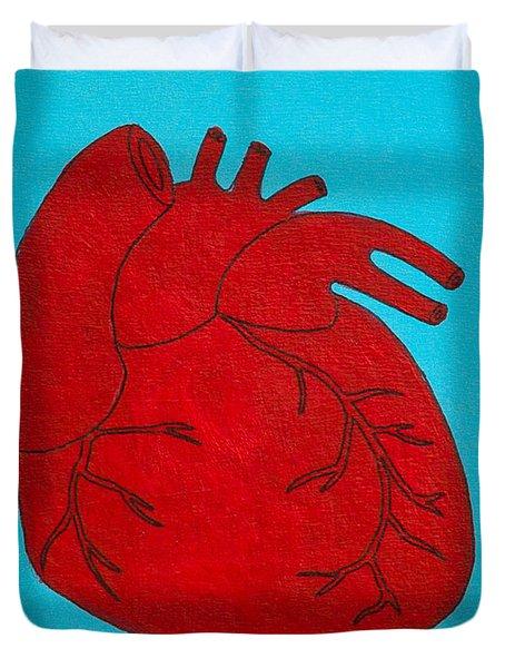 Heart Red Duvet Cover