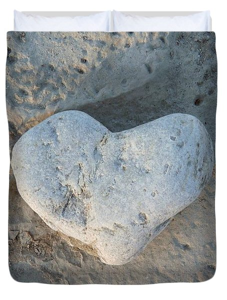 Heart Stone Photography Duvet Cover