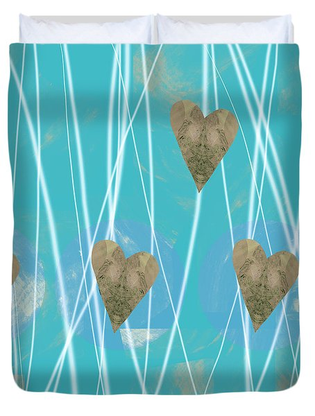 Heart Strings  Abstract Art  Duvet Cover