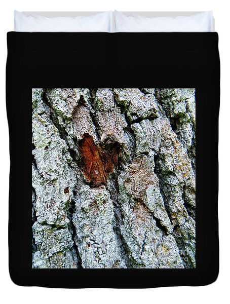 Duvet Cover featuring the photograph Heart Wood by Joy Hardee