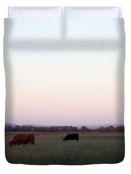 Duvet Cover featuring the photograph The Kittitas Valley I by Susan Parish