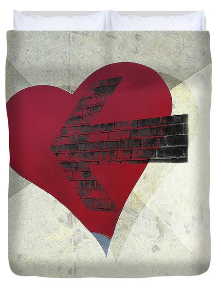 Hearts 7 Square Duvet Cover by Edward Fielding