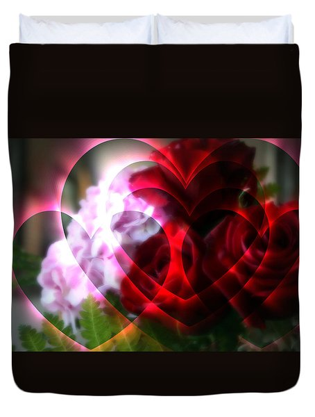 Hearts A Fire Duvet Cover