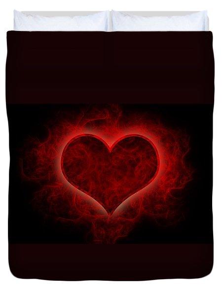 Heart's Afire Duvet Cover