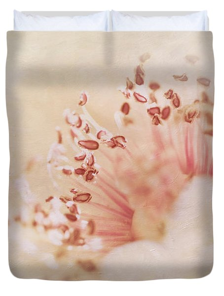 Hearts And Flowers Duvet Cover by A New Focus Photography