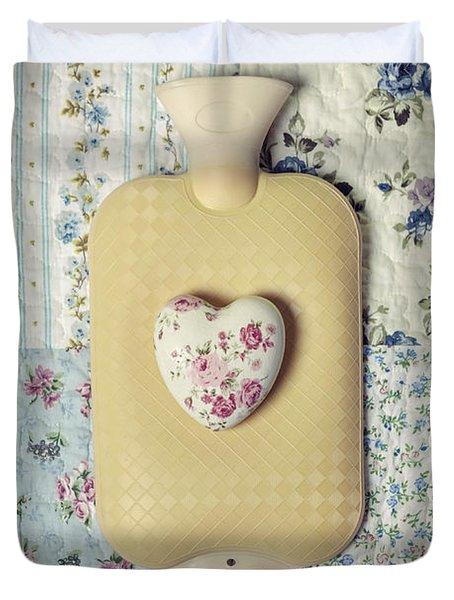 Hearty Hot-water Bottle Duvet Cover by Joana Kruse
