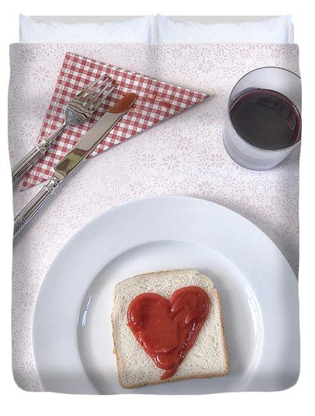 Hearty Toast Duvet Cover by Joana Kruse