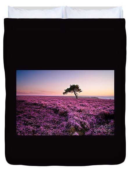 Heather At Sunset Duvet Cover