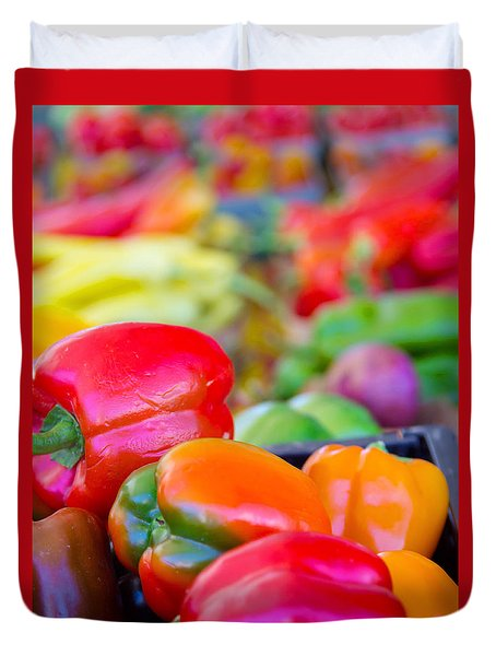 Heatlhy Peppers Duvet Cover