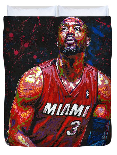 Dwyane Tyrone Wade Jr. Duvet Cover