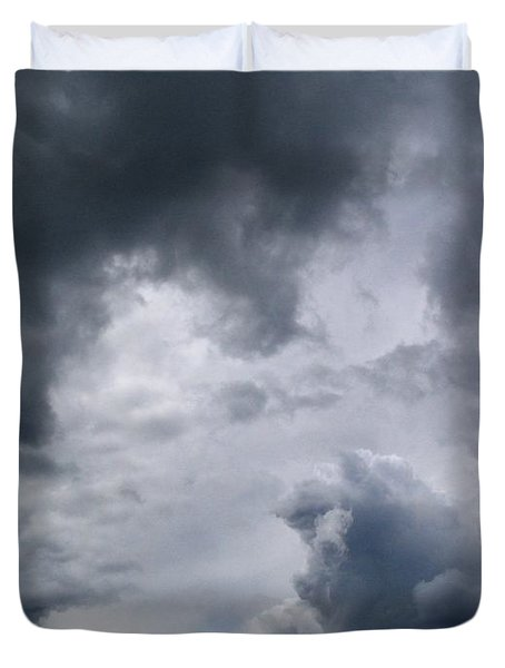 Heaven Looks Angry Duvet Cover