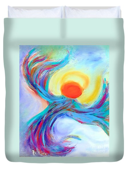 Heaven Sent Digital Art Painting Duvet Cover by Robyn King