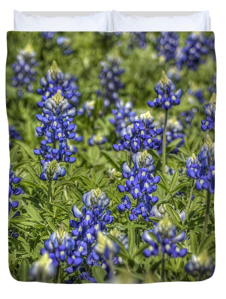 Heavenly Bluebonnets Duvet Cover