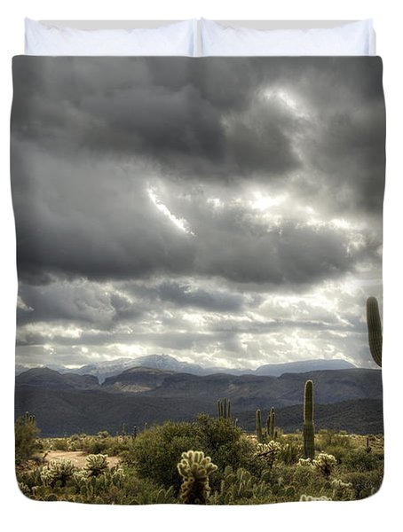 Heavenly Desert Skies  Duvet Cover by Saija  Lehtonen