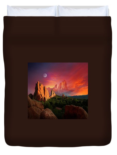 Heavenly Garden Duvet Cover by John Hoffman