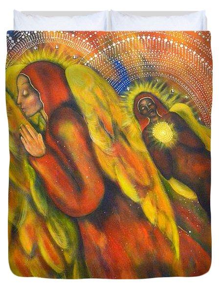 Heavenly Messengers Duvet Cover