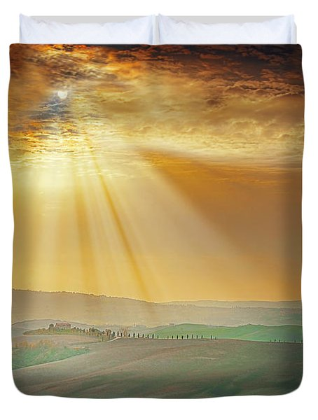 Heavenly Rays Duvet Cover