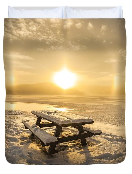 Duvet Cover featuring the photograph Heavenly Sleep by Rose-Maries Pictures