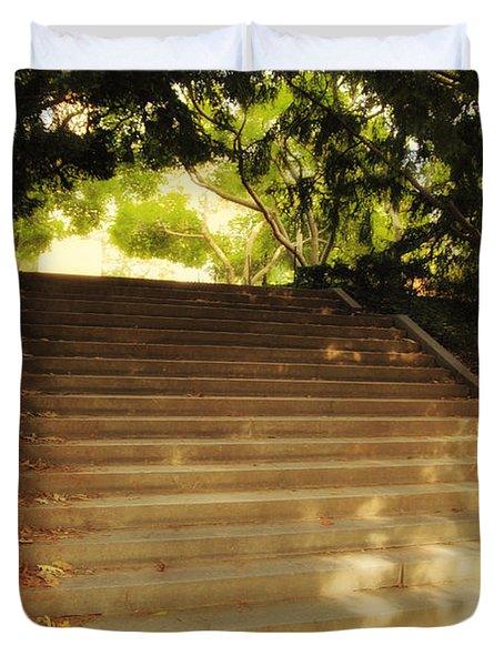 Heavenly Stairway Duvet Cover by Madeline Ellis