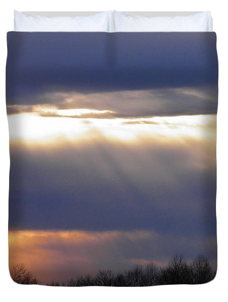 Heavenly Sunset Duvet Cover by Nick Kirby