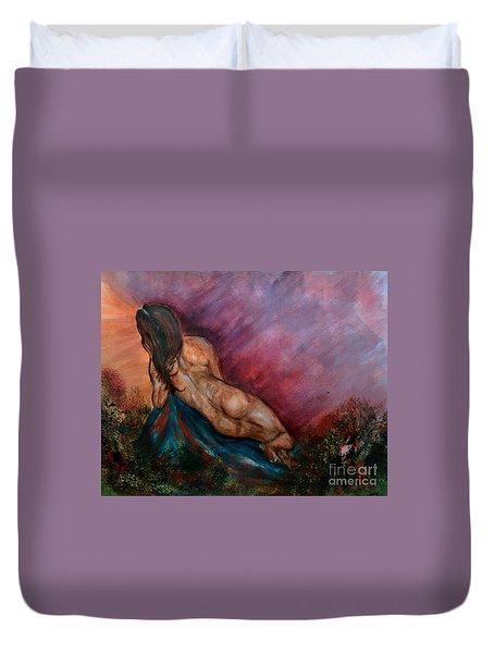 Heavens Garden Duvet Cover by Lori  Lovetere