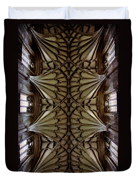 Heavenward -- Winchester Cathedral Ceiling Duvet Cover by Stephen Stookey