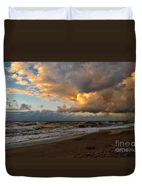Heavy Clouds Over Baltic Sea Duvet Cover