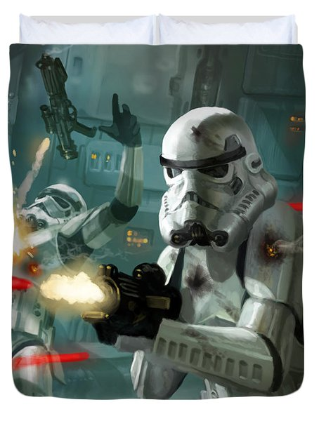 Heavy Storm Trooper - Star Wars The Card Game Duvet Cover