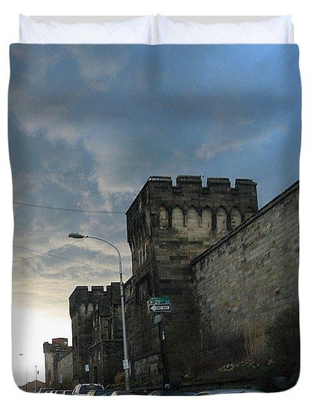 Heavy Weather Over Eastern State Duvet Cover