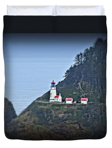 Duvet Cover featuring the photograph Heceta Head Light House by Nick Kloepping