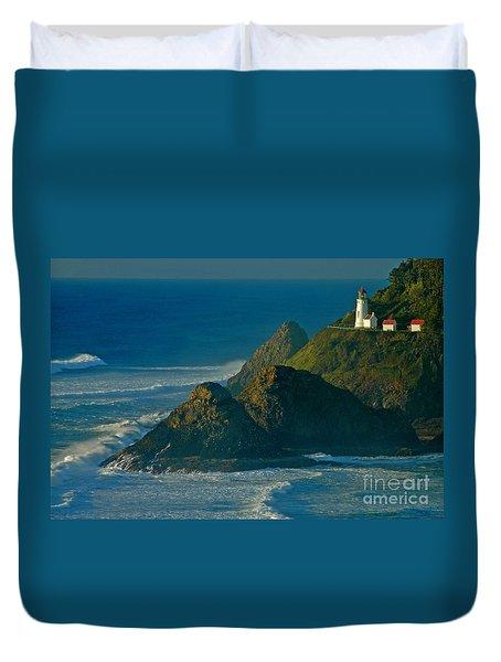 Heceta Head Seascape Duvet Cover
