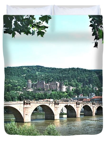 Heidelberg Schloss Overlooking The Neckar Duvet Cover